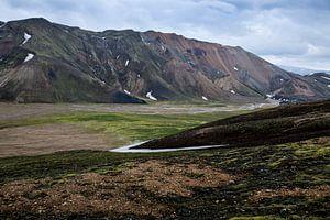 Berglandschap in Landmannalaugar van