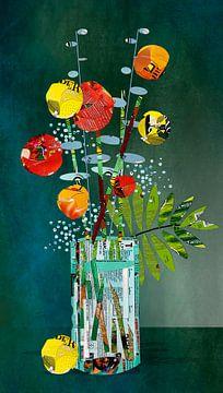Glas-Vase von Ruud van Koningsbrugge