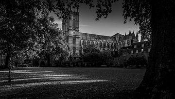 Schwarz-Weiß: Westminster Abbey London von Rene Siebring