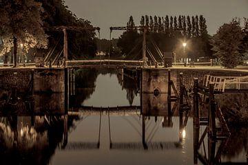 Ophaalbrug bij de sluizen te Zwolle van