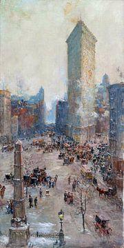 Colin Campbell Cooper, Flat Iron Building - 1904 von Atelier Liesjes