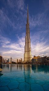 Burj Khalifa vroeg in de ochtend