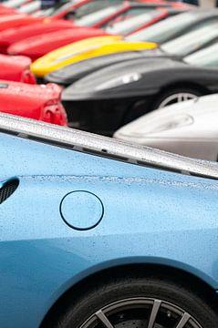 Collection Ferrari avec une Ferrari 430 Scuderia au premier plan sur Sjoerd van der Wal