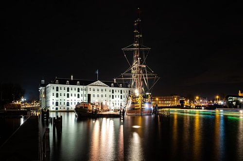 Scheepvaartmuseum en VOC Schip Amsterdam