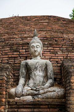 Boeddha in de tempel van Thailand von Marcel Derweduwen