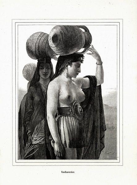 Wasserträgerin, Elisabeth Jerichau-Baumann, 1875 von Atelier Liesjes