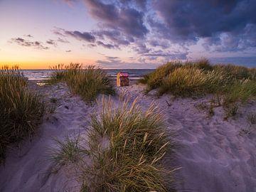 Soirée dans les dunes sur Denis Feiner