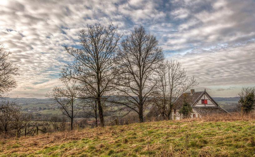 Limburgs Vakwerkhuisje bij Cottessen van John Kreukniet