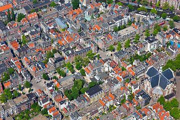 Luchtfoto van de Jordaan te Amsterdam van Anton de Zeeuw