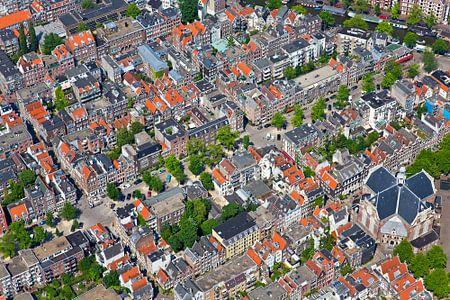 Luchtfoto van de Jordaan te Amsterdam