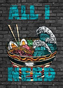 Anime Ramen Noodles All I Need van KalliDesignShop