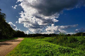 Bewolkt landschap van
