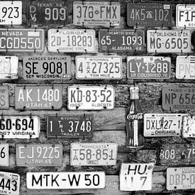 Nummerplaten in Amerika van Susan Lambeck
