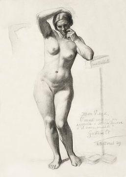 Akt bildnis, Gustave Courbet, 1849 von Atelier Liesjes