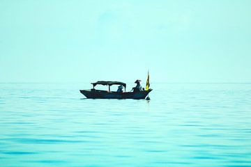 Vissers op de Zuid- Chinese Zee van Nannie van der Wal