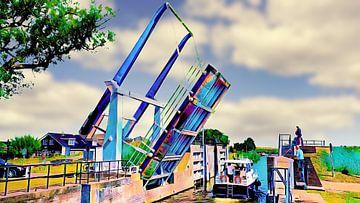 Zugbrücke von Ewijcksluis von Digital Art Nederland
