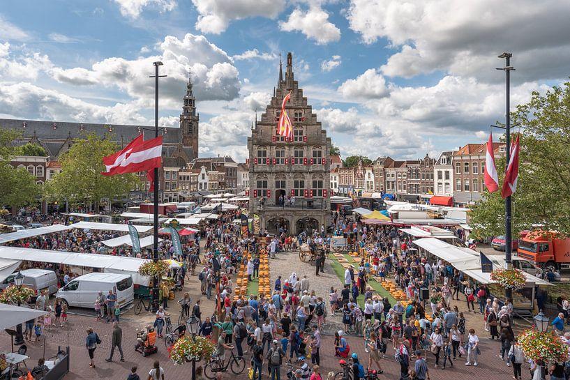 Kaasmarkt in Gouda van Rinus Lasschuyt Fotografie