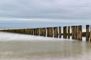 Lange sluitertijd op het strand zeeland