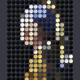 Mädchen mit dem Perlenohring (auf Punkte reduziert) von Color Square