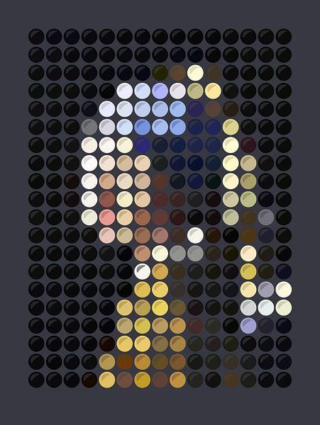 Meisje met de parel (dots) van Color Square