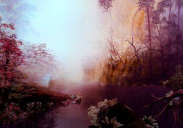 Lac en Automne sur Angel Estevez