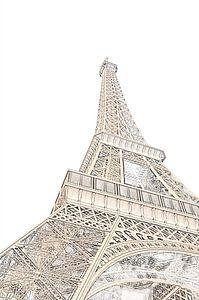 Der Eiffelturm, Paris - Frankreich (Skizze)