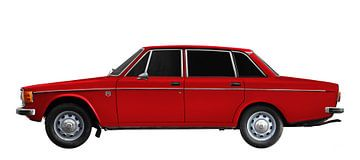 Volvo 144 in original red von aRi F. Huber