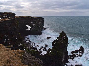 Formations rocheuses sur la côte de Snæfellsnes sur Timon Schneider