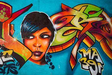 Graffiti gezicht van Antwan Janssen