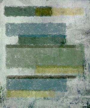 Abstract in grijs groene tinten van Rietje Bulthuis