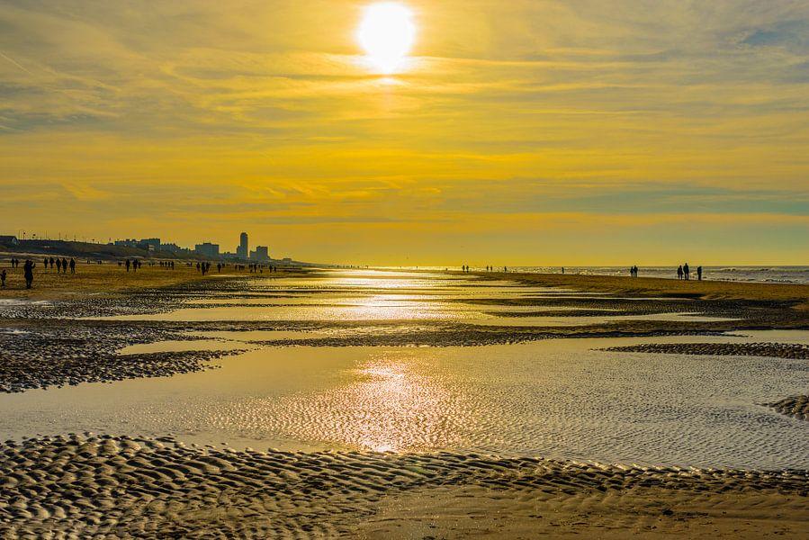 Het strand van Bloemendaal op 28 december 2015 van Don Fonzarelli