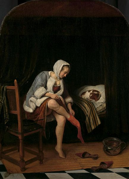 Het toilet, Jan Havicksz. Steen van Meesterlijcke Meesters