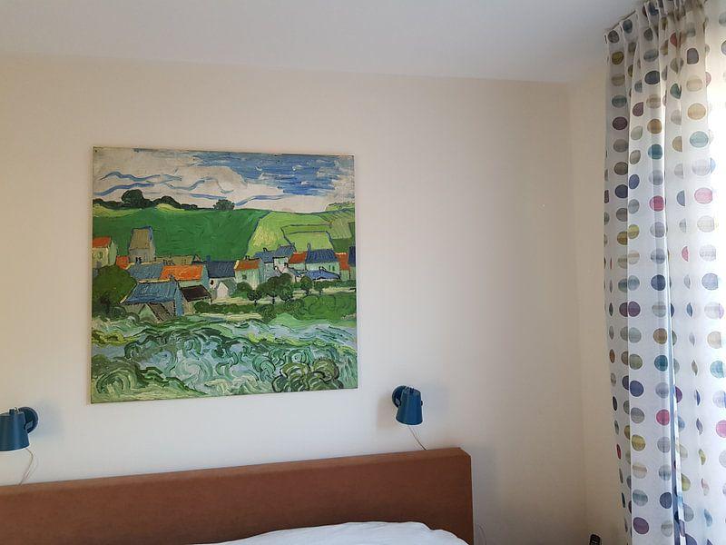 Klantfoto: Vincent van Gogh, Gezicht op Auvers, op canvas