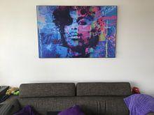 Klantfoto: Prince Splash Pop Art PUR 1 van Felix von Altersheim, als print op doek