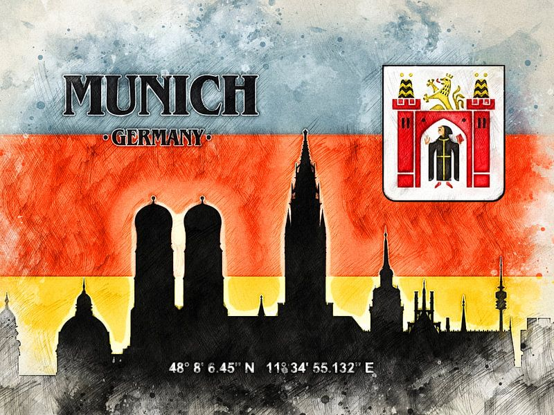 München van Printed Artings