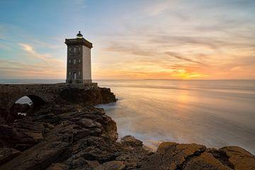 Kermorvan Leuchtturm in der Bretagne von Jos Pannekoek