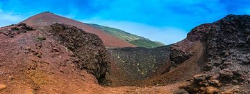 Vulkanisch landschap op Sicilie van
