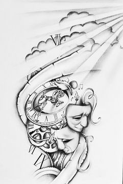 Tekening Tattoo  van Cynthia Jansen