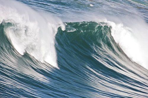 Ongelofelijke hoge golf in de atlantische oceaan van nilaya van vliet