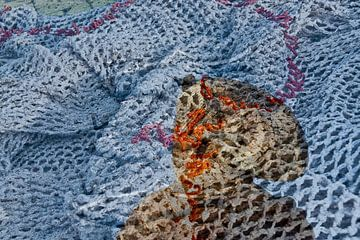 Vissersvrouw met net van Jacintha Van beveren