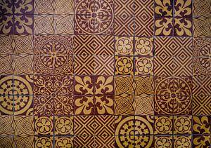 middeleeuwse vloertegels van Lies van den Berg