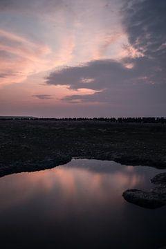 Zonsondergang Reflectie von Anna Groenia