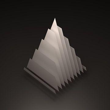 Geometrisch lichaam: Piramide van Jörg Hausmann