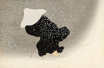 Dwarrelende sneeuw, Kamisaka Sekka