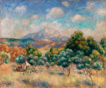 Berg von Sainte-Victoire, Renoir (1888-1889) von Atelier Liesjes