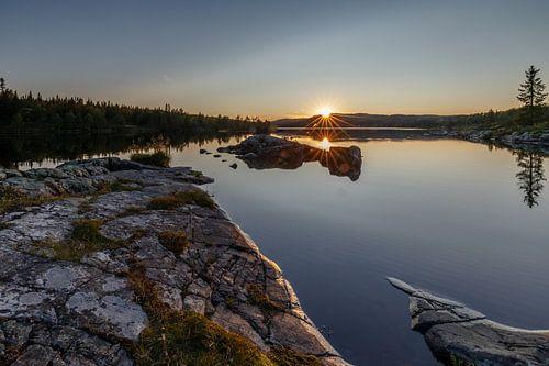 Landschap van Noorwegen tijdens de herfst. van