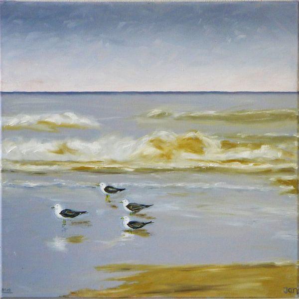 Strand #3 van Jan Wiersma
