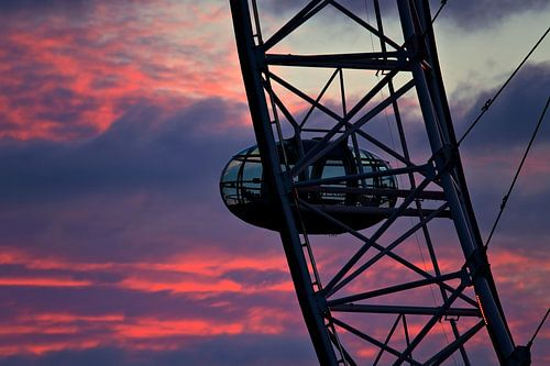 Nachtfoto cabine Londen Eye