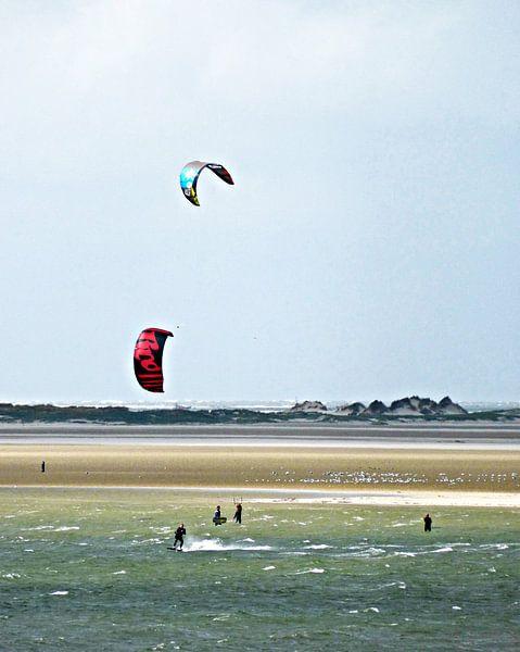 Kitesurfen op Terschelling van Jessica Berendsen