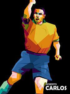 Roberto Carlos popart von miru arts